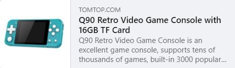 Q90 复古电子游戏 Price: $26.99